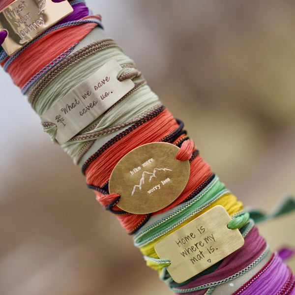 Personalized BOHO Silk Wrap Bracelets