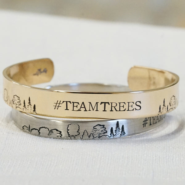#TEAMTREES Cuff Bracelet - IF Only Pretty LLC