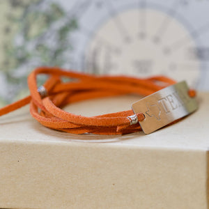 Texas Burnt Orange Bracelet - IF Only Pretty LLC