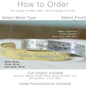 Winter Wonderland Cuff Bracelet