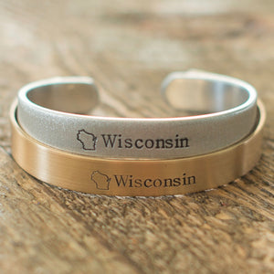 Wisconsin Cuff Bracelet - IF Only Pretty LLC