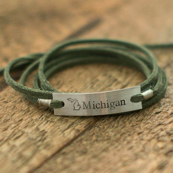 Michigan Green Wrap Bracelet - IF Only Pretty LLC
