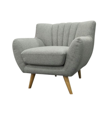 Lilly 1-Seater Lounge Chair - Light Grey