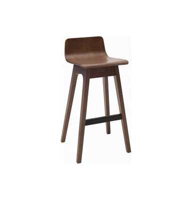 Ava Low Back Bar Stool - Walnut