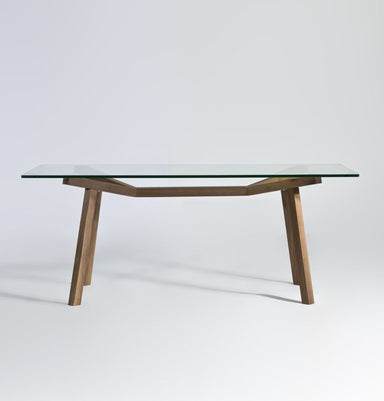 Brooklynn Rectangular Dining Table - Glass Top Humbly Nobly