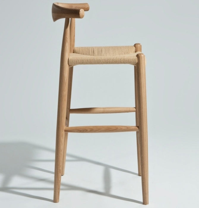 CH20 Elbow Counter Stool - Ash & Natural Cord - Reproduction