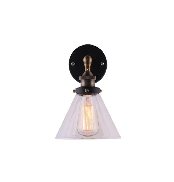 Clear Glass Funnel Filament Wall Lamp Humbly Nobly