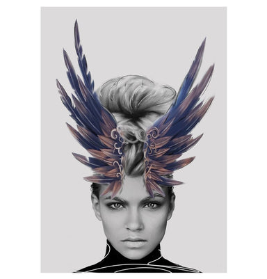 Crown of Feathers Print Humbly Nobly