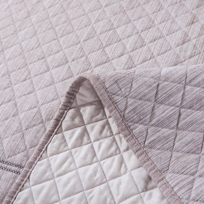 Elegant Fair Isle in Purplish Grey Quilted Coverlet Bedspread Set