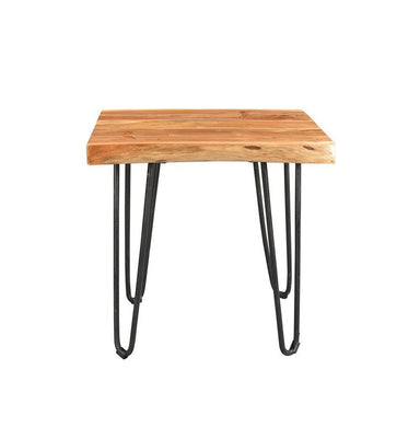 Driftwood Live Edge Solid Acacia Side Table with Hairpin Legs