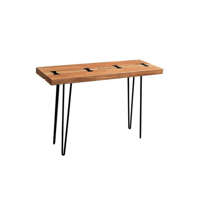 Driftwood Solid Acacia Console Table with Hairpin Legs