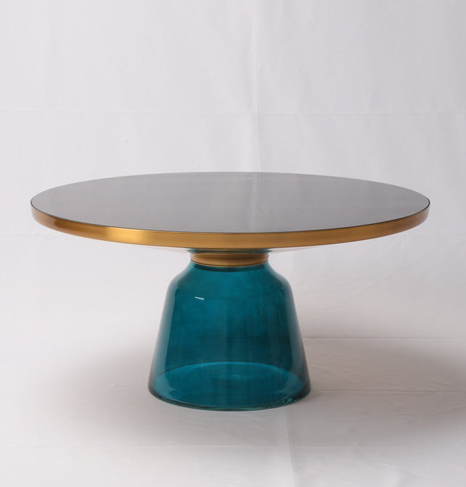 Karin Table Coffee Table - Gold & Blue