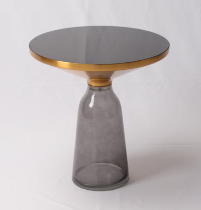 Karin Table Side Table - Gold & Grey