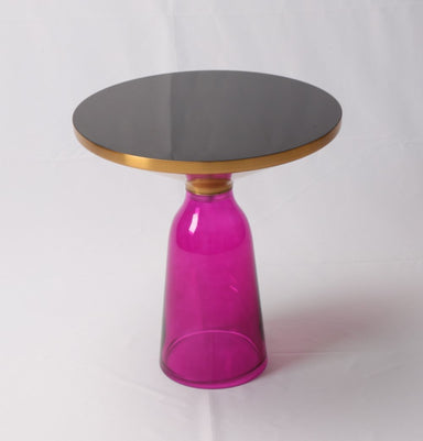 Karin Table Side Table - Gold & Purple