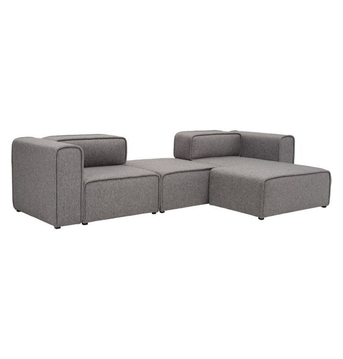 L-Shaped 3 Seater Left Sectional Chaise Modern Sofa - Björn - Pebble Home Decor Humbly Nobly