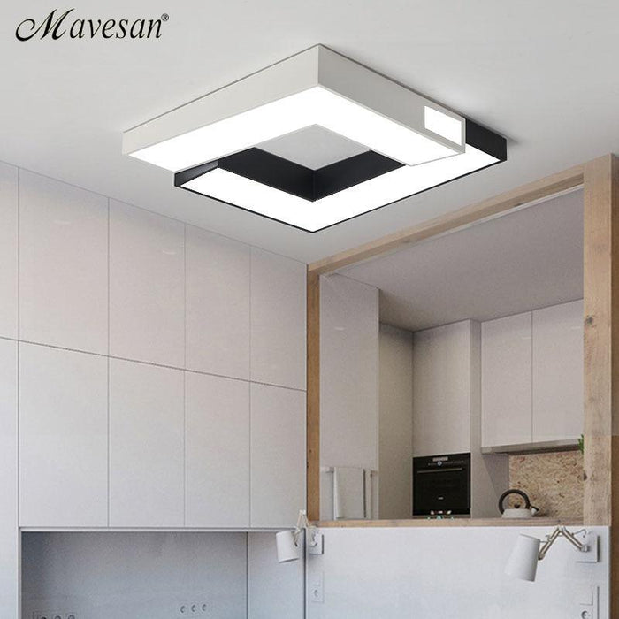 Modern square LED Ceiling Lights For Living Room White Celling Lamps  Dining Room Bedroom Lighting Fixture lustre de plafond