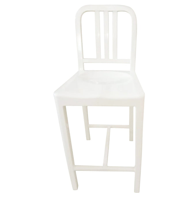 Oliver Counter Stool - Aluminium - White Humbly Nobly