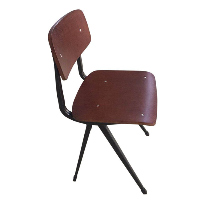 Rika Chair - Walnut Seat/Back & Black Frame Humbly Nobly