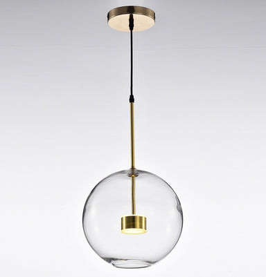 Salome Pendant Lamp - 1 Big Clear Glass Shade Humbly Nobly