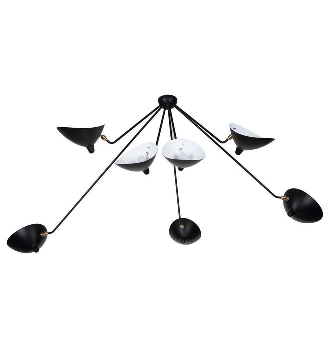 Serge Seven-Arm Spider Ceiling Lamp - Reproduction