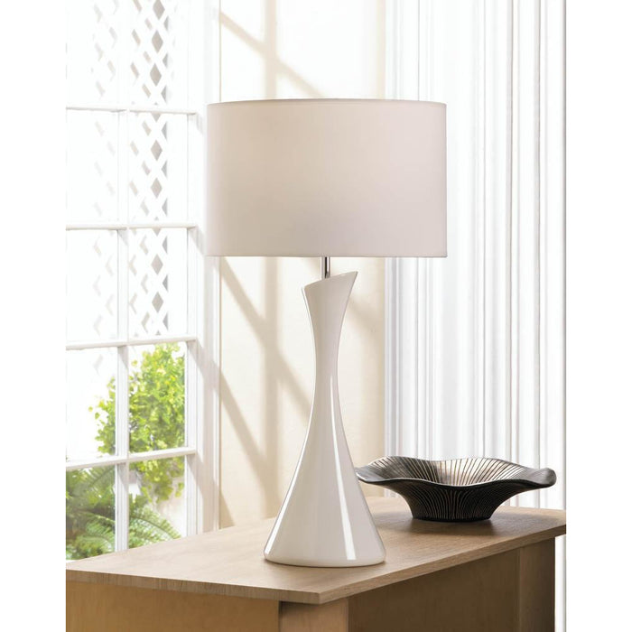 Sleek Modern White Table Lamp Home Decor Humbly Nobly