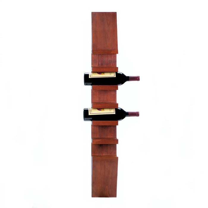 Sleek Wooden Wall Rack for Bottles Home Decor Humbly Nobly