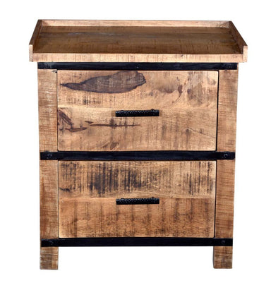 Sneha 2-Drawer Nightstand/Bedside Table