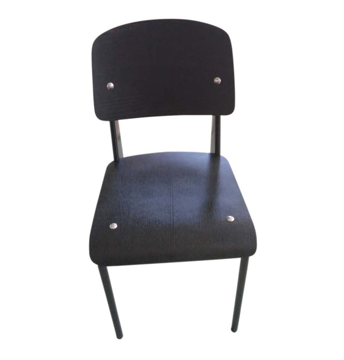 Standard Chair - Black Seat/Back & Black Frame - Reproduction Humbly Nobly