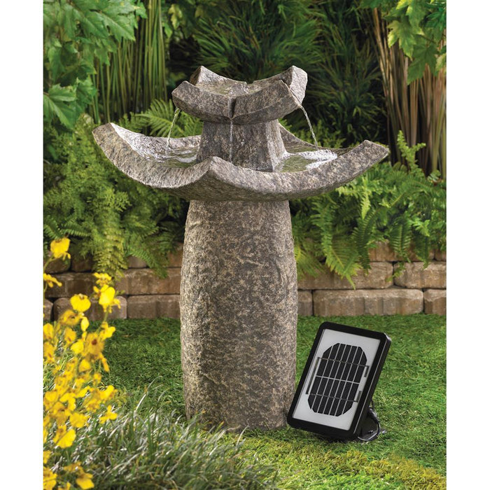 Temple Solar Water Fountain Home Decor Humbly Nobly