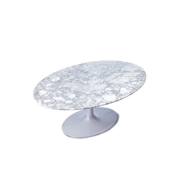 Tulip Coffee Table - Oval - Reproduction Black / Large Humbly Nobly