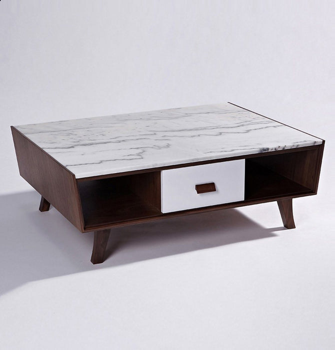 Vera Wood & Marble Coffee Table