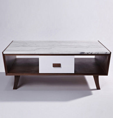 Vera Wood & Marble Coffee Table Home Decor Humbly Nobly
