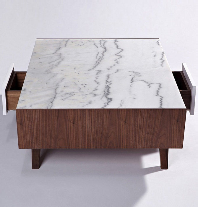 Vera Wood Marble Coffee Table Humbly Nobly