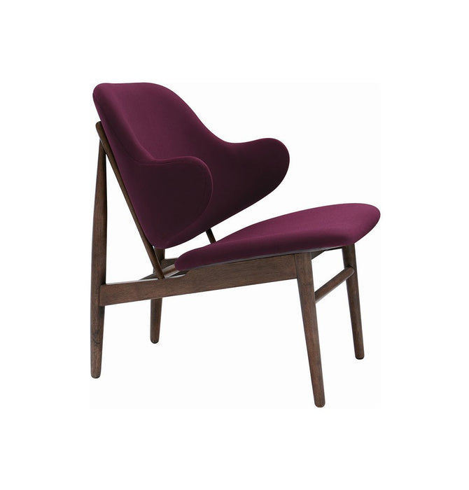 Veronic Lounge Chair - Walnut & Ruby Humbly Nobly