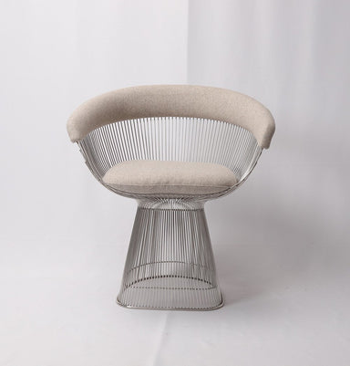 Warren Wire Dining Chair - Upholstered in Cashmere Wool - Reproduction