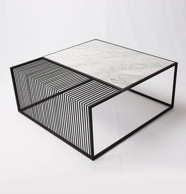 Wilma Marble & Iron Coffee Table