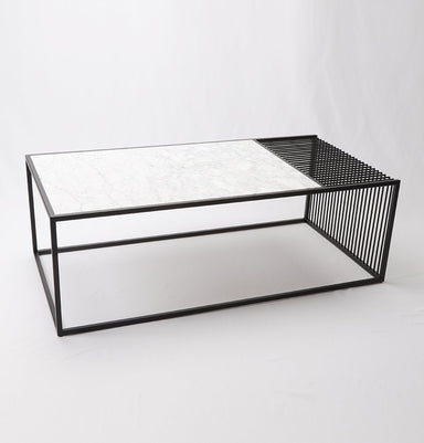 Wilma Marble & Iron Coffee Table - Rectangular