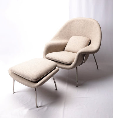 Womb Chair & Ottoman - Cashmere Wool - Reproduction