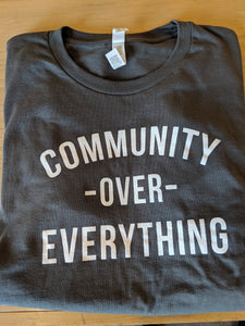 Community Over Everything Tee - Grey