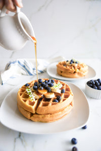 Homemade waffles with cricket protein