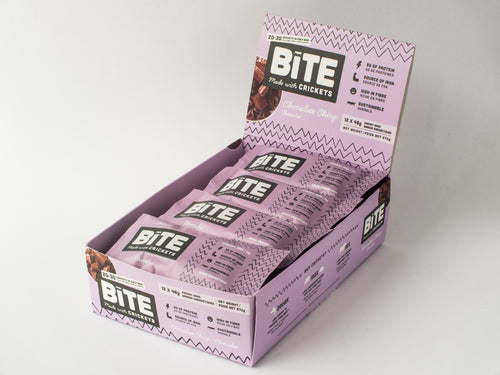 Bite Snacks Cricket Protein Energy Bar Chocolate Box