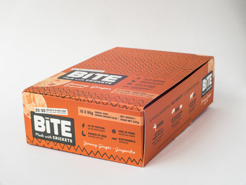 Bite Snacks Box of Ginger Cricket Protein Bars