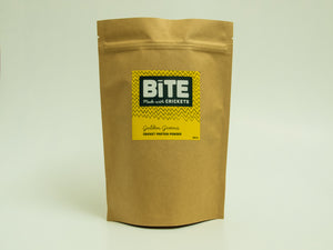 Bite Snacks Cricket Protein Powder Golden Greens smoothie mix