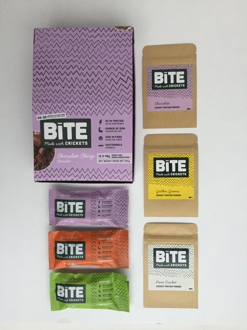 Bite Snacks Cricket Protein Energy Bar Sample Pack