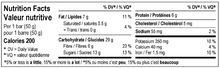 Load image into Gallery viewer, Bite Snacks Nutritional Information Panel for Ginger Chunk Cricket Energy Bars