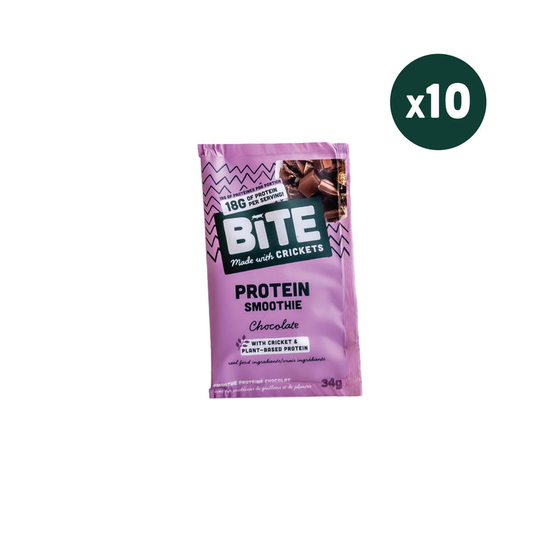 Cricket Protein Powder | Chocolate [10 Single Serve Pouches]