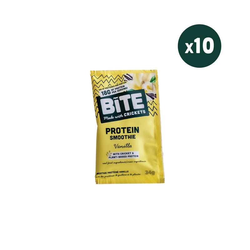 Cricket Protein Powder | Vanilla (10 Single Serve Pouches)