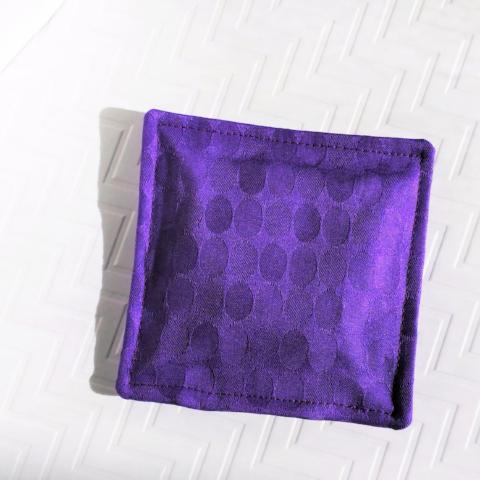 Pink Halite Crystal-filled Pillow - Purple Dimensions Fabric