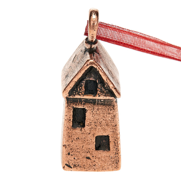 Wishing House Ornament - Rustic Copper