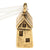 Wishing House Ornament - Antique Gold